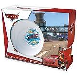 Stor 70465 - Estuche de regalo con cuenco, plato para postre y taza, de cerámica, con diseño de Cars Racing Sports Network
