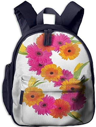Kid's Boys&Girls Backpacks   Pocket Letter S Fragrance C Garden Flourishing Nature Essence of Nature in Alphabet Decorative Orange Hot Pink Green B07H29FXSZ   Prix D'aubaine