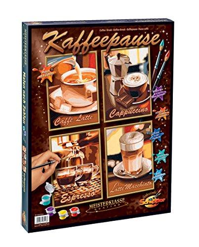 Malen nach Zahlen - Kaffeepause (Quattro), je 18x24 cm ()
