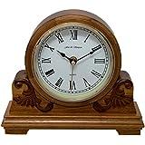 Renard et Simpson Buckingham Horloge de cheminée, bois, chêne