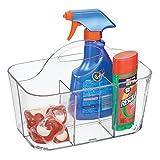 mDesign transparenter Aufbewahrungskorb für Wäscheklammern & Co. - tolle Alternative zum Wäscheklammerbeutel aus Kunststoff - kleine Haushaltsbox mit 15,24 cm x 24,4 cm x 17,1 cm