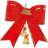 Da. WA (dos Bell con lazo para colgar, diseño árbol de Navidad para