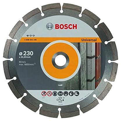 Bosch Pro 2608602195 – Disco Tronzador de Diamante Standard Universal, Ø 230