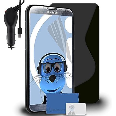 iTALKonline Samsung SCH-I605 Galaxy Note 2 Nero TPU S line