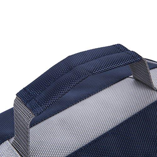 Multifunctional Mittagessen Tasche Kühltasche Picknicktasche Lunch Bag Wasserdichte Tasche 26x16x18cm Handtasche Ideal für Outdoor, Tiefblau Schwarz