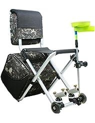 Flat Out Carp Fishing Verstellbarer Sessel mit seitlichem Tablett