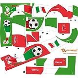 Stickers Adhesivos de Playmyplanet Fútbol Italia Compatibles con Playmobil Mini Bus 5267