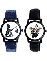 A R Sales Combo Of 2 Analog Watch For Mens And Boys 102-106