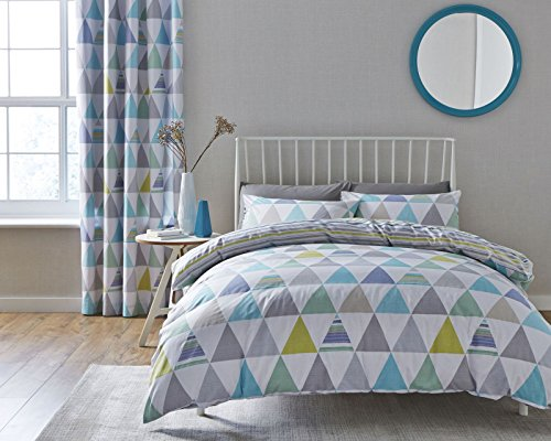 Catherine Lansfield Scandi Geo Easy Care Double Duvet Set Multi