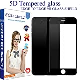 #7: CELLBELL® Apple iPhone 7 (5D)(BLACK) Full Body Premium Quality Tempered Glass Screen Protector Guard