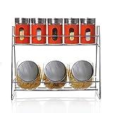 Verre carafe,Réservoir de stockage de grain Spice box set 2étage]10Ensemble étagères de cuisine-E