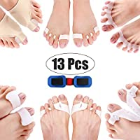Corrector Big Toe 13 Pcs Bunion Toe Separators Straightener Silicone Thumb Valgus Correction Kit Pain Relief Feet Care Tool Beauty Gift