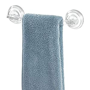 InterDesign – Euro – Power Lock – Porta Rollo de Papel higiénico, con ventosas; para Cuarto de baño – Claro