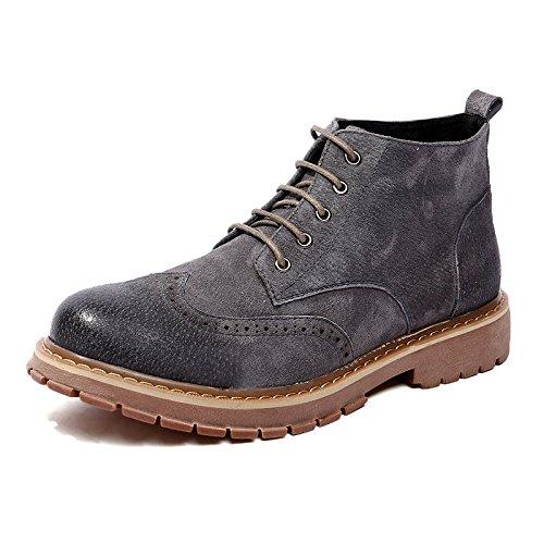 HL-PYL-Nouvelle chaussure haute bottes bottes Hommes, Jobon Grind Sand Retour à l'ancienne Martin Bottes