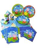 Generique Kit de cumpleaños Peppa Pig 25 piezas