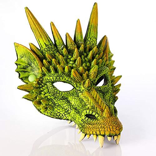 Böser Drache Maske für Erwachsene und Kind Karneval Verkleiden Sich,Purple,H30*W21cm ()