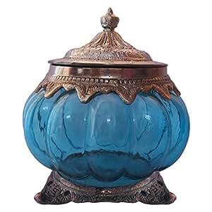 Anamis Decorative Glass box - Blue