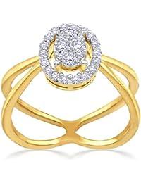 Malabar Gold And Diamonds 18KT Yellow Gold And Diamond Ring For Women - B07B5655ZS