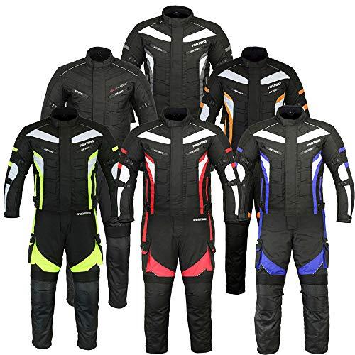 NEXTEK Tuta intera da tuta-moto da corsa CE blindata 2Piece Safety protetto-Giacca impermeabile moto pantalo