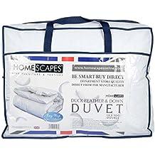 Homescapes warme Premium Winter Bettdecke, 200 cm x 200 cm, Steppdecke, Wärmeklasse 5 - Entenfedern und Daunen, Füllgewicht 2200g
