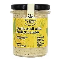 Delicious & Sons - Garlic Aioli with Basil Lemon 6.35 Oz. 182351