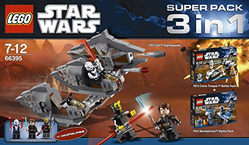 Lego Stars Wars 66395 Super Pack 3 in 1 (7957 + 7913 + 7914) - Special Collector Set –