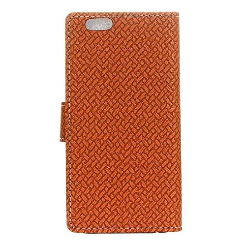 GHC Cases & Covers, Für iPhone 6 & 6s Weaving Texture Horizontale Flip PU Ledertasche mit magnetischen Wölbung & Halter & Card Slots & Wallet & Photo Frame ( Color : Brown ) Brown