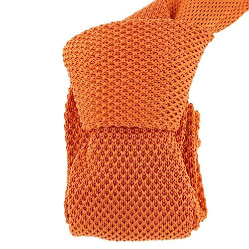 Clj Charles Le Jeune - Cravate Tricot. Orange Totana