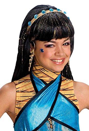 Nile Cleopatra Kinderperücke schwarz Einheitsgröße (Schwarze Cleopatra-kostüm)