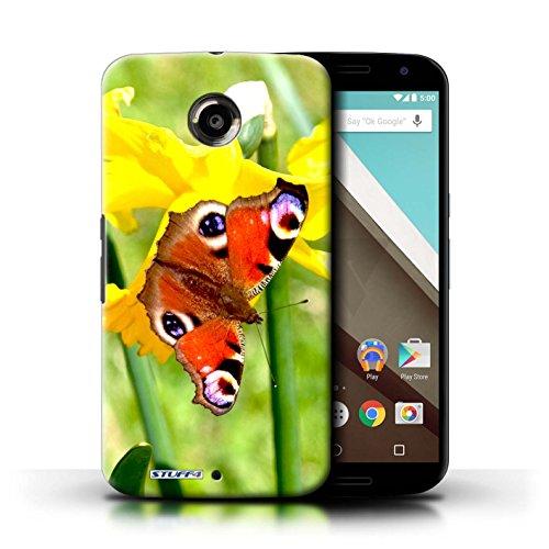 Kobalt® Imprimé Etui / Coque pour Motorola Nexus 6 / Fleur jaune conception / Série floral Fleurs Papillon