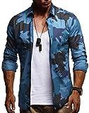 LEIF NELSON Herren Kurzarm Hemd Slim Fit Langarm Kurzarmhemd Freizeithemd Freizeit Party T-Shirt LN3460; XXL, Türkis