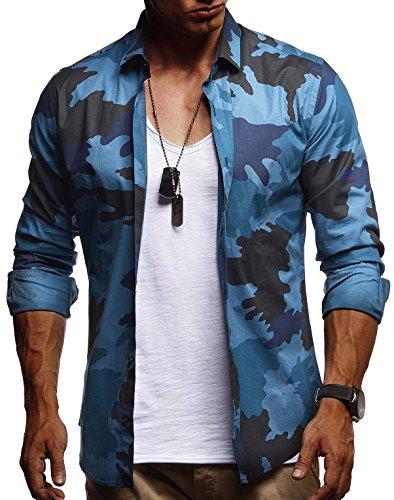 LEIF NELSON Herren Kurzarm Hemd Slim Fit Langarm Kurzarmhemd Freizeithemd Freizeit Party T-Shirt LN3460; M, Türkis