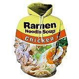 3D-Hoodie Kleidung Ramen Noodle Soup Drucken Sweatshirt Schwein/Hühnchen/Rindfleisch lustig Hooded Pullover 01 L