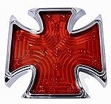 12V LED Malteser Eisernes Kreuz Iron Cross Alu Rücklicht TÜV ECE Chopper Hot Rod