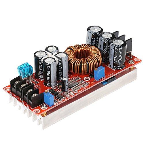 Preisvergleich Produktbild KKmoon Einstellbar DC-DC Netzteil Steigern Stromversorgungsmodul, Hohe Energie Boost Step-up Power Supply Module (1200W 20A IN 8-60V OUT 12-80V)