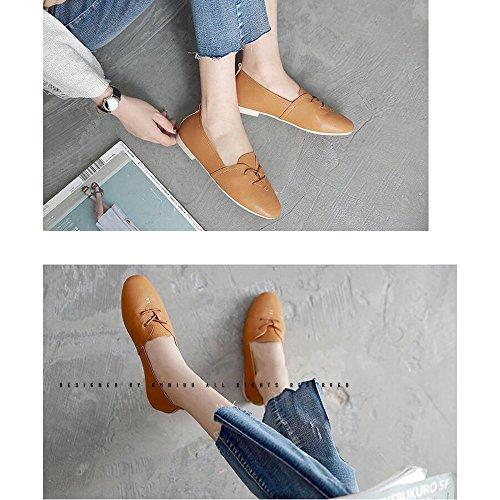 FUFU Scarpe Donna Scarpe a punta con tacco Outdoor / Ufficio & Carriera / Casual Nero / Giallo / Beige ( Colore : Nero , dimensioni : EU39/UK6.5/CN40 ) Giallo