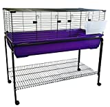 Heritage X/Large 120 Purple Rabbit Cage With Stand Package Deal - 120cm Indoor Bunny Cages & Stand, With Shelf & Wheels