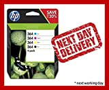 HP 364 4-pack Black/Cyan/Magenta/Yellow Original Ink Cartridges (N9J73AE)