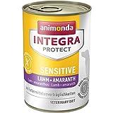 animonda Integra Protect Sensitive mit Lamm und Amaranth | Diät Hundefutter | Nassfutter bei Futtermittelallergie (6 x 400 g)