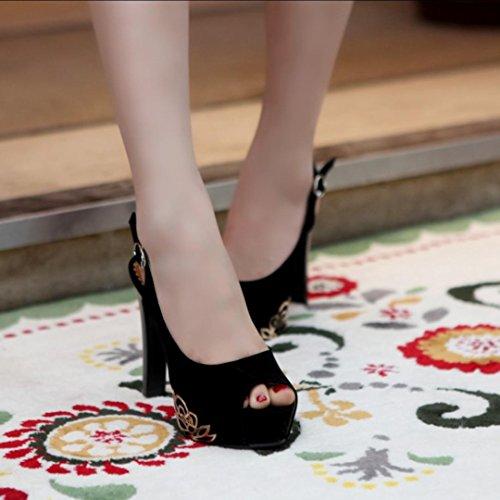Da donna-Tacchi-Matrimonio Casual Serata e festa-Plateau Comoda Club Shoes-A stiletto Plateau-Felpato-Nero Blu Rosso Beige Black
