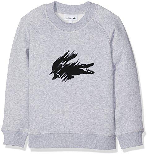 Lacoste Jungen Sweatshirt Sj8075, Grau (Argent Chine), 6 Jahre (Herstellergröße: 6A) (Gerippte Ärmel, Lange Trim)