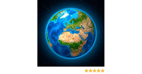 3D Maxikarte Erde Europa