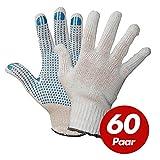 Polyester Strickhandschuhe KORL mit PVC Noppen Arbeitshandschuhe Handschuhe Noppenhandschuhe VPE 60 Paar, Größe:10 (XL)
