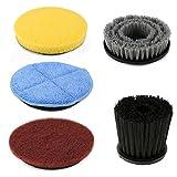 SIEGES Spin Scrubber accessori elettrici spazzola di pulizia in microfibra con 3 Spazzole per stanze da bagno, WC, Doccia, cucina