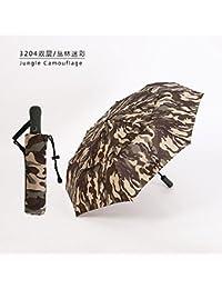 Xue-zhenghao La Moda Paraguas Plegable Automatico Doble, Exterior Cortavientos para Hombres,C2