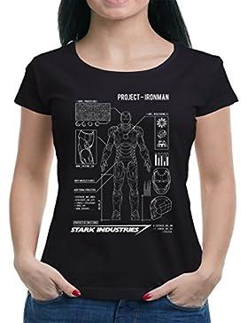 TLM Project Ironman T-Shirt Maglietta da Donna