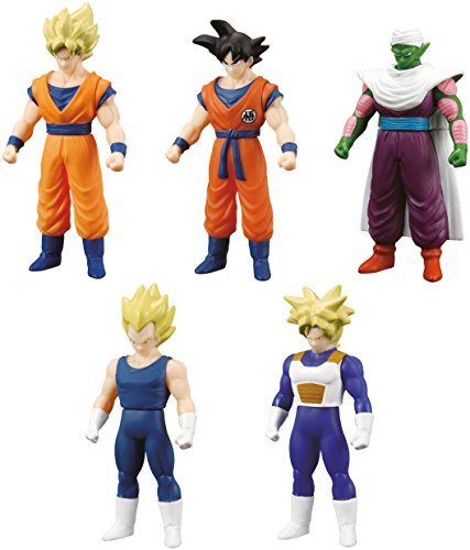 Bandai 34503 - Dragon Ball Z, pack de 5 figuras (héroes)