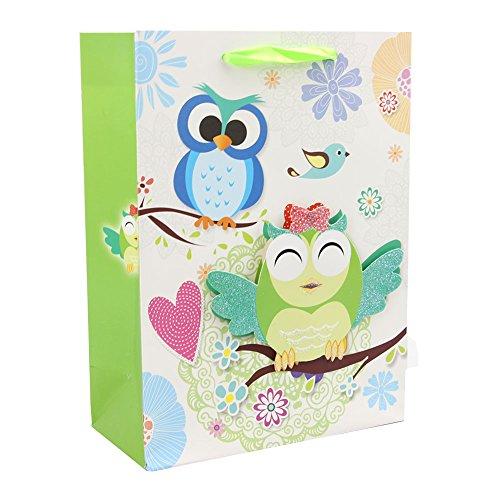 personalisierbar Premium Geschenk-Beutel-Set mit strapazierfähigen Griffen Papier Geschenk Tasche für Geburtstag, Weihnachten und Urlaub Presents (12Stück)