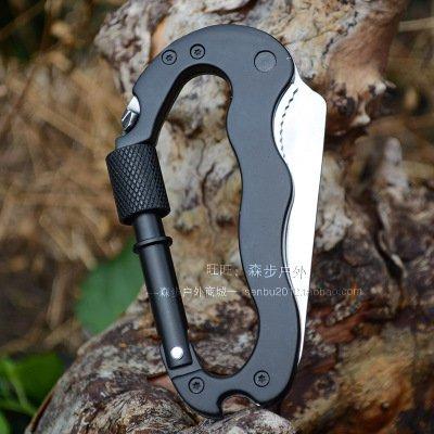 Ménage Plug Boucle d'alpinisme multifonction Portable pliant couteau trop