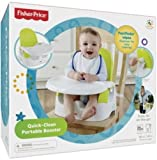 #10: Fisher Price Quick-Clean Portable Booster, Multi Color